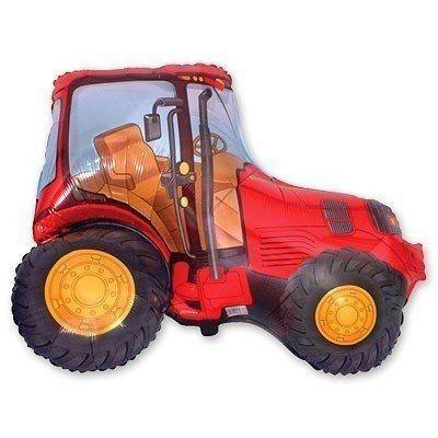 Фольгированный шар Трактор красный  73х95 см FLEXMETAL (Испания )