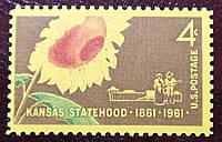 """""""Kansas Statehood 1861-1961"""" - 1961 год"""