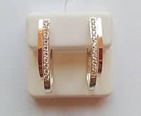 Серьги из серебра и золота с циркониями Юна, фото 1