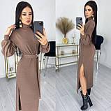 Платье с поясом из ангоры 50-589, фото 5
