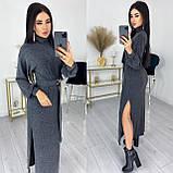 Платье с поясом из ангоры 50-589, фото 7