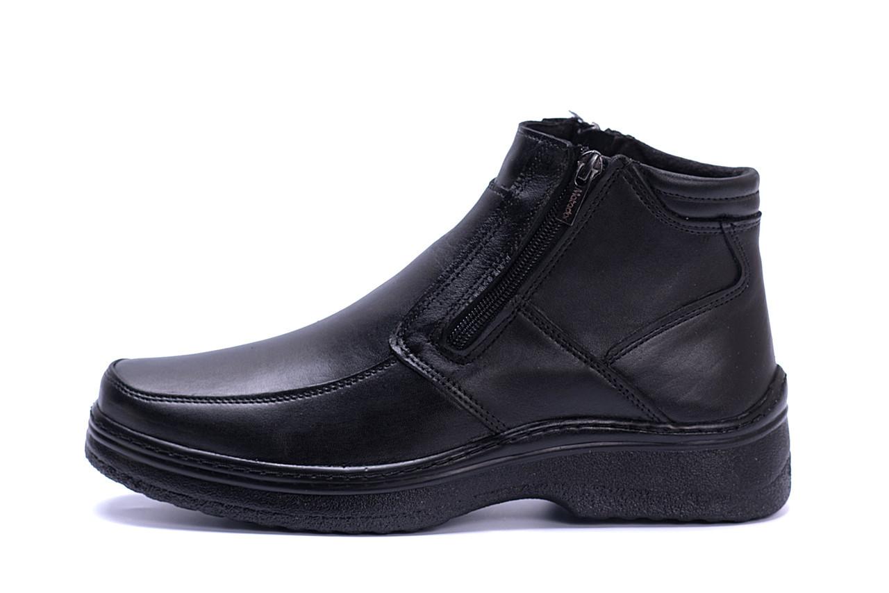Чоловічі шкіряні зимові черевики Matador clasic два замку р. 40
