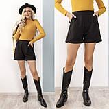 Теплые женские шорты из кашемира 35-367, фото 2