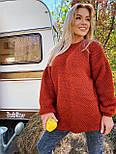 В'язаний светр стільники оверсайз з напівшерсті в кольорах (розмір 42-44) 404944, фото 8