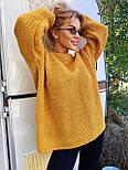 В'язаний светр стільники оверсайз з напівшерсті в кольорах (розмір 42-44) 404944, фото 9