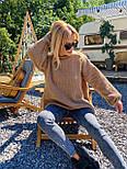 В'язаний светр стільники оверсайз з напівшерсті в кольорах (розмір 42-44) 404944, фото 10