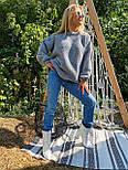 В'язаний светр стільники оверсайз з напівшерсті в кольорах (розмір 42-44) 404944, фото 7