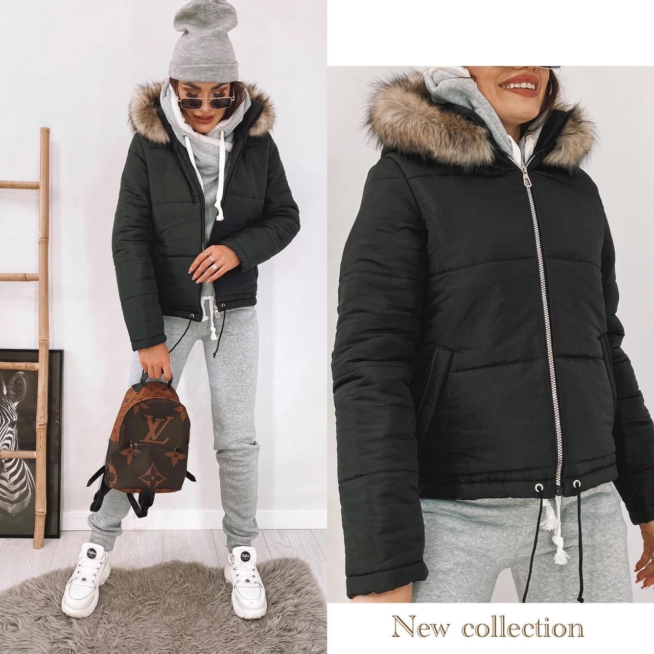 Куртка женская с капюшоном 35-2130