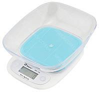 Электронные кухонные весы с чашей на 7 кг Domotec MS-125 Blue (5260)