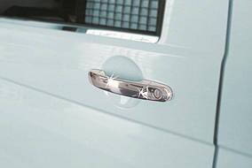 Volkswagen Caddy 2015↗ рр. Накладки на ручки (нержавійка) 3 штуки. Carmos - турецька сталь