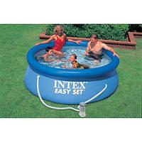 Надувной бассейн + насос фильтр (244 на 76 см)