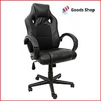 Кресло геймерское Bonro B-603 игровое компьютерное кресло офисное мягкое удобное стул профессиональный черное