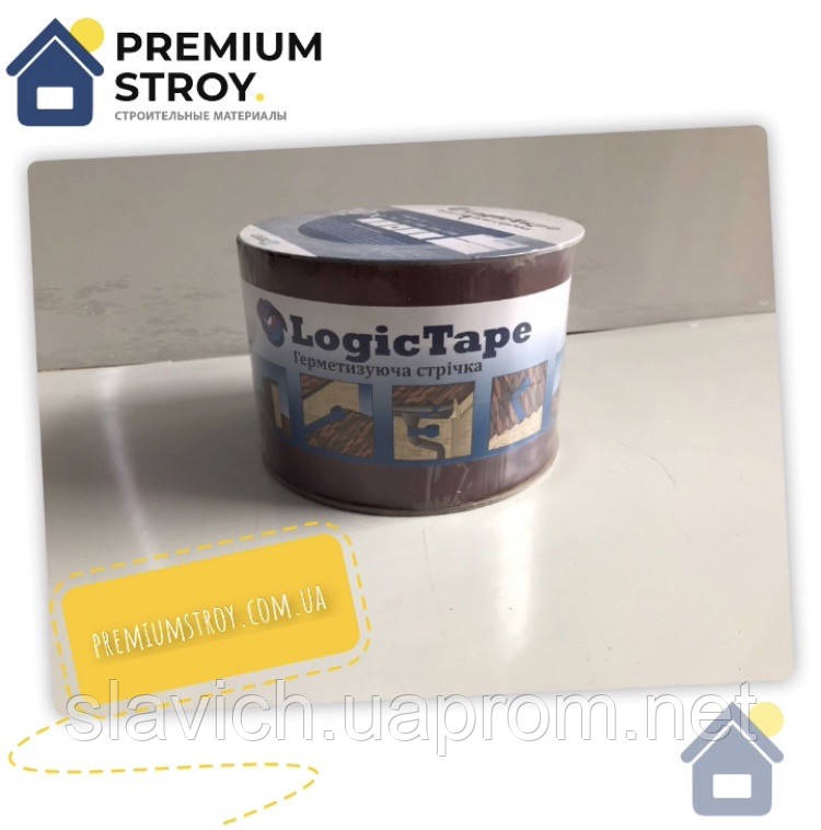 Бутилкаучукова стрічка Logic Tape Червона 100 мм х 10 м