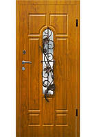 Двері вхідні з ковкою №6 модель 105, фото 1