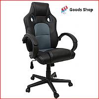 Кресло геймерское Bonro B-603 игровое компьютерное кресло офисное мягкое удобное стул профессиональный серое