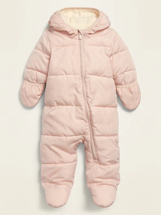 Детский зимний комбинезон Quilted Water-Resistant Snowsuit Олд Неви для девочки