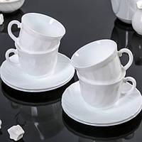 Чайный сервиз на 4 персоны Luminarc Trianon 4х280 мл (67530)