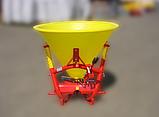 Розкидувач добрив Jar-Met 500 л.(пластик) Польща на 6 лопатей і диск з нержавійки, фото 6