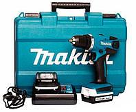 Аккумуляторный шуруповерт Makita DF347DWE + 2 акб BL1415G 14.4 V 1.5 Ah + з/у DC18WA + кейс