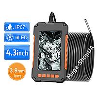 USB эндоскоп с экраном мини камера жесткий кабель 3.9мм / 5 метров технический бороскоп для смартфона телефона