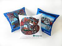 Новогодние декоративные подушки с логотипом, фото 1