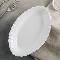 Селёдница белая стеклокерамическая Luminarc Trianon 220*140 мм (D6885)
