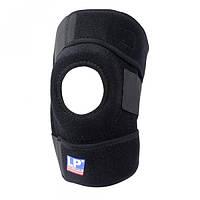 Бандаж для коленной чашечки Knee support with stays YC 733 со спиральными ребрами жесткости Black (R0230)
