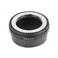 Адаптер переходник M42 - Fujifilm X FX, кольцо Ulata, фото 1
