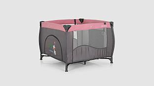 Детский манеж EL CAMINO ME 1030 ARENA PINK LEN Серо-розовый (KI01085)
