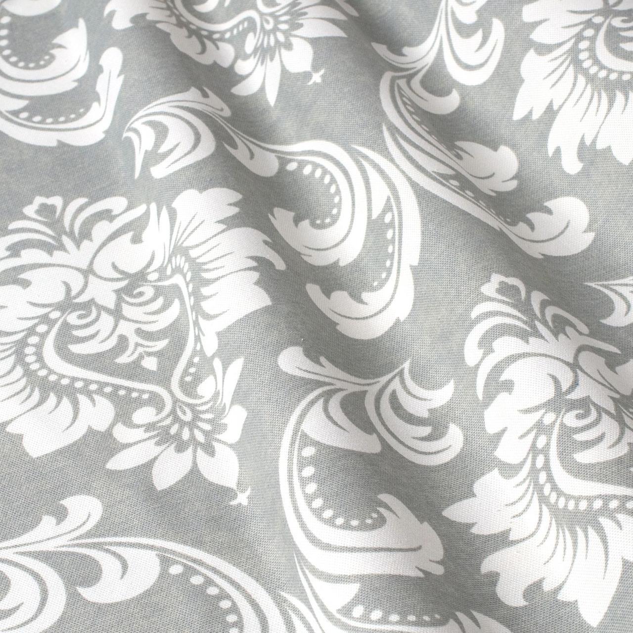 Декоративна тканина вензель сірий з тефлоновим просоченням Туреччина 87840v5