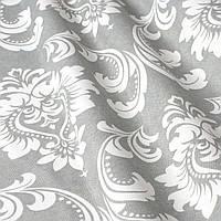 Декоративна тканина вензель сірий з тефлоновим просоченням Туреччина 87840v5, фото 1