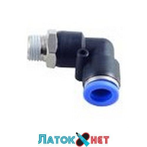 Фитинг угловой для пластиковых трубок 6 мм с наружной резьбой 1/4 RF-SPL06-02 Rock Force