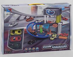 Детский гараж автомойка со звуком световыми эффектами 3 машинки 10 А-2