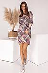 Женское платье, турецкий трикотаж, р-р универсальный 42-46 (розовый), фото 4