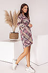 Женское платье, турецкий трикотаж, р-р универсальный 42-46 (розовый), фото 6