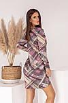 Женское платье, турецкий трикотаж, р-р универсальный 42-46 (розовый), фото 7