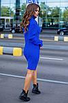 Женское платье, 70% акрил + 30% шерсть, р-р универсальный 42-46 (электрик), фото 2