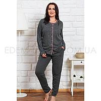Пижама для полных женщин Штаны и Рубашка 1147, Графитовый, XL
