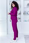 Женский спортивный костюм батал, 50% коттон +50% акрил, р-р универсальный 48-52 (марсала), фото 2