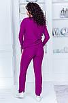 Женский спортивный костюм батал, 50% коттон +50% акрил, р-р универсальный 48-52 (марсала), фото 3
