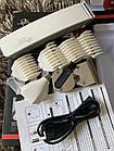 Машинка для стрижки волос, бороды, усов, триммер 4 в 1 Gemei GM-586, портативный аккумуляторная бритва, фото 8