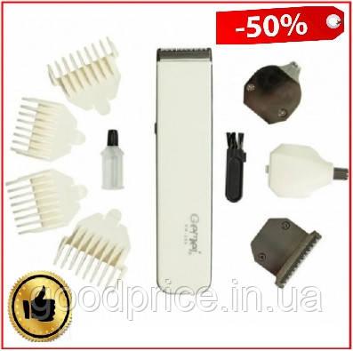 Машинка для стрижки волос, бороды, усов, триммер 4 в 1 Gemei GM-586, портативный аккумуляторная бритва