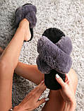 Женские домашние тапочки иксики из фетра цвета Ниагара, Family Story, фото 2