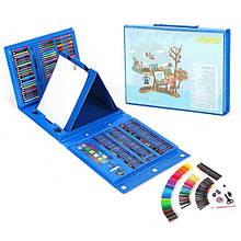 Дитячий набір для малювання у валізці з 176 предметів - Блакитний