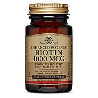 Биотин (В7) 1000 мкг, Solgar, 50 гелевых капсул