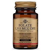 Фолат, 800 мкг, Folate, Solgar, 50 таблеток