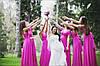Платье трансформер для подружек невесты фиолетовый. - Фото