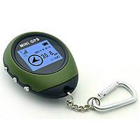 Карманный мини GPS навигатор, брелок, 16 точек