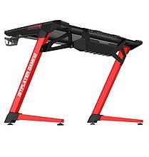 Геймерський стіл 1stPlayer GT1 Black-Red