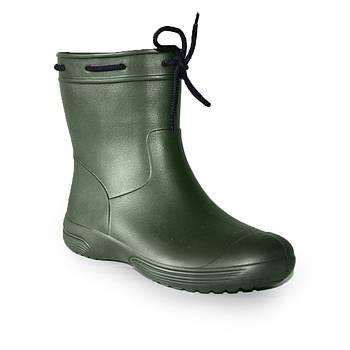 Непромокальні чоботи з піни р. 36, 37 Гумові чоботи кольору хакі. Зроблено в Україні.
